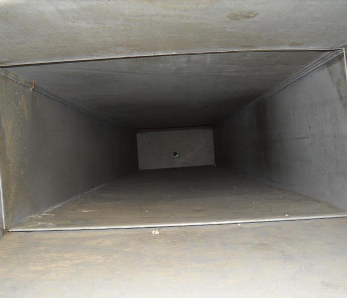 A photo of an air duct that is perfectly clean